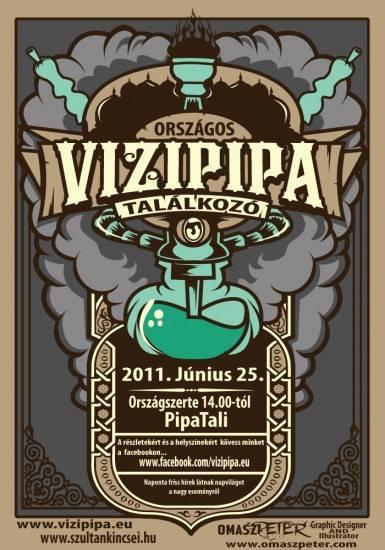 Országos vízipipa találkozó 2011 plakát